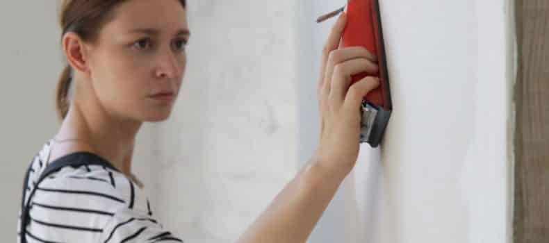 how to sand drywall fast